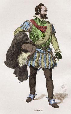 Henri IV, le premier roi de France appartenant à la dynastie des Bourbons. Illustration de Charles Laplante.