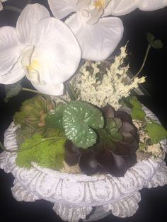 Orchid, Geode & Succulent floral arrangement centerpiece, table top decor, natural elements by AwsomeAccents on Etsy https://www.etsy.com/listing/279625018/orchid-geode-succulent-floral