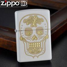 Zippo Windproof White Sugar Skull Lighter 28792