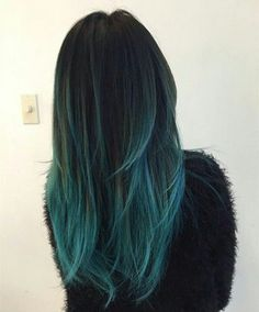 20 Teal Blue Hair Color Ideas for Black & Bown Hair – Black to teal green & blue ombre hair color with highlight~ new hair dye choice of turquoise Turquoise teal girl babyHair color tips blue tealBest Teal Hair Dye, Color Ombre Hair Color, Turquoise Hair Ombre, Dark Teal Hair, Ash Green Hair Color, Brown Hair With Blue, Blue Tips Hair, Black And Green Hair, Dyed Hair Ombre, Dyed Hair Blue