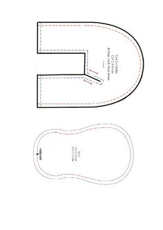 shoes pattern _ Patron zapato 6-12