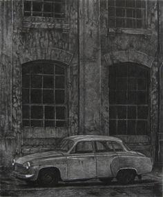 Mikael Kihlman, Lodz-90, drypoint, 30x25cm, 1990