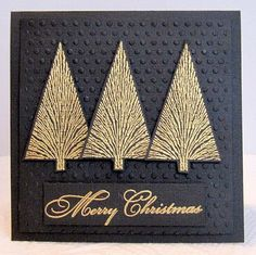 Black and Gold Christmas Trees
