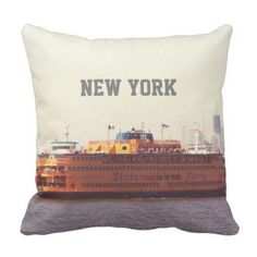 A friend loves stationery staten island ferry new york throw pillow 3965 by cycreation cyo customize personalize unique diy negle Images