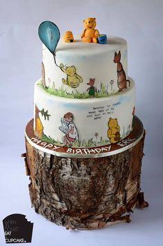 Elegant vintage Winnie the Pooh cake
