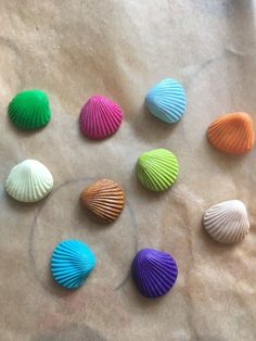 6 Handmade in Fimo 17 mm Shells - Pick Your Colour  | eBay