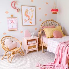 Baby Bedroom, Girls Bedroom, Bedroom Themes, Bedroom Decor, Surf Room, Guest Room Office, Little Girl Rooms, Decoration, Room Inspiration
