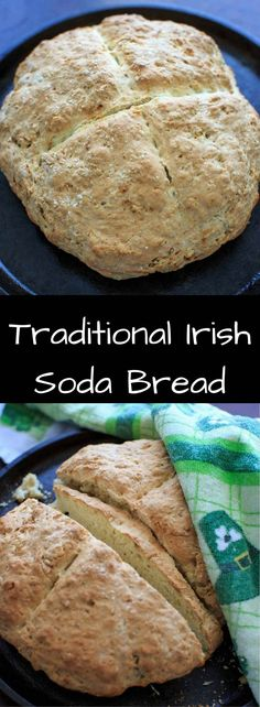 "Traditional Irish Soda Bread recipe. Includes options for sweet and savory add-ins to make it a little more ""non-traditional."""