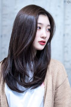 Medium Hair Cuts, Long Hair Cuts, Medium Hair Styles, Long Hair Styles, Korean Haircut Medium, Asian Haircut, Korean Short Hair, Haircuts For Long Hair With Layers, Long Layered Hair