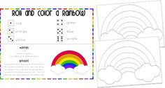 Roll and Color a Rainbow from crisscrossapplesaucelearning.blogspot.com