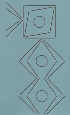 """Textile Motif 4.5"""" - The Stencil Company"""