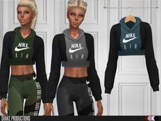 Crop Hoodie Found in TSR Category 'Sims 4 Female Everyday'