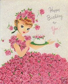 28 Little Girl Vintage Greeting Cards Birthday Cowgirl | #41777325