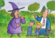 Hanzel and Gretel and their lawyer put a stop to the local Witches reign of sugar induced terror.