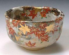 京都府 清水焼 陶器 夢玄紅葉 抹茶碗