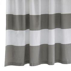 """I love the Stripe Shower Curtain, 72""""x74"""", Feather Gray on westelm.com $39"""