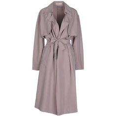 Stefanel Full-length Jacket ($93) ❤ liked on Polyvore featuring outerwear, jackets, dove grey, multi pocket jacket, full length jacket, single breasted trench coat, stefanel and trench coats