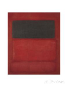 Black over Reds [Black on Red], 1957 Prints by Mark Rothko at AllPosters.com