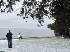 Sunset Park, Fish Creek - Snowy Day Door County Wisconsin, Fish Creek, Snowy Day, Best Vacations, Lodges, Cool Pictures, Maine, Activities, Sunset