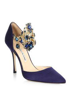 High Heels : Picture Description Manolo Blahnik Zullin Jewel-cuff Satin Pump - #Heels https://glamfashion.net/fashion/shoes/heels/high-heels-manolo-blahnik-zullin-jewel-cuff-satin-pump/ #manoloblahnikheelsfashion #highheels