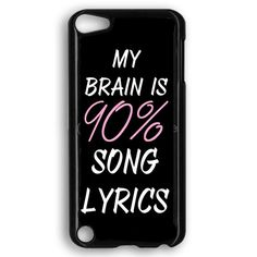 Cool Brain Song Music Cute Funny Quote iPod Touch 5 Case