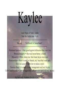 Hey look its me for once I can find my name on something!!      ~ Kaylee♥