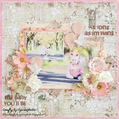 Crafty by AgnieszkaBe: Prima Prima Marketing, Love You Forever, Crafty, Frame, Layouts, Baby, Scrapbooking, Home Decor, Ideas