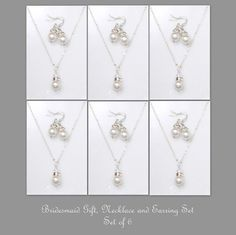 Custom Bridesmaid Gift Set of 6 Swarovski by alexandreasjewels