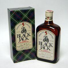 Bottiglia scotch whisky black jack con box 5 anni cl.75 collezione idea regalo