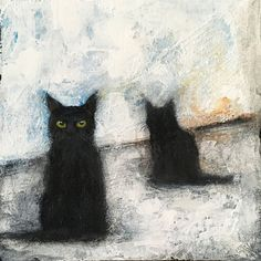 Buy CATS IN WINTER, Acrylic painting by Eva Fialka on Artfinder. Discover thousands of other original paintings, prints, sculptures and photography from independent artists. Acrylic Painting Canvas, Canvas Art, Black Cat Art, Black Cats, Winter Painting, Buy A Cat, Cat Drawing, Animal Paintings, Art Sketches
