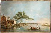 Francesco Guardi, The Isola della Madonnetta on the Lagoon of Venice, 18th Century    Harvard Art Museums/ Fogg Museum