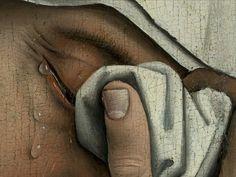 Rogier van der Weyden, Descente de croix (detail), c. 1430-35.