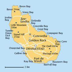 St. Eustatius - Statia Map