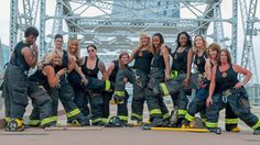 The city's male firefighters have shot a calendar for the last couple of years and now it's the ladies' turn.