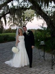 Sweet photo of the newlyweds at beautiful Dubsdread in Orlando