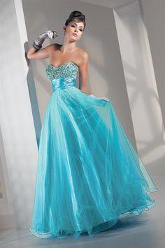 Modelos de Vestidos de Fiesta largos de color Turquesa