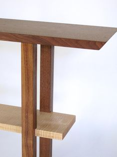 Narrow Entry Table, Narrow Entryway, Entryway Console Table, Small Entry, Handmade Wood Furniture, Modern Wood Furniture, Furniture Plans, Diy Furniture, Skinny Tables