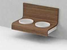 modern wall feeding bowls
