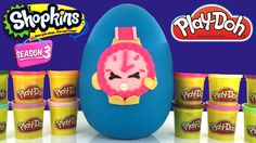GIANT Shopkins Play Doh Surprise Egg with Season 3 Limited Edition Ticky Tock FILLED WITH SHOPKINS