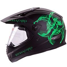 "IV2 ""BIOHAZARD"" High Performance Dual Sport Motocross ATV, Dirt Bike Helmet [DOT] (M) IV2 http://www.amazon.com/dp/B00MLKY8SC/ref=cm_sw_r_pi_dp_KV9Iwb076ZDCW"