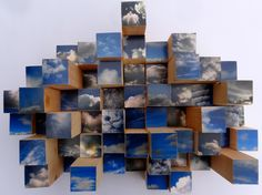 Pixel Cloud - Original Photographic Sculpture for wall or tabletop. via Etsy.