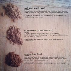 DIY ALL NATURAL FOUNDATION + BRONZER recipe using nutmeg, cinnamon and cocoa powder. Nutmeg helps in removing blackheads and diminishing acne scars, cinnamon treats itchy skin, and cocoa powder alleviates sun damage and slows aging. These 3 ingredients are powerhouses for your skin.