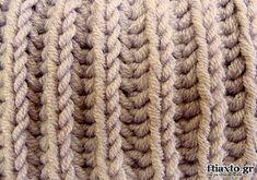 Πλέξιμο - Τεχνική Brioche ή Εγγλέζικο Λάστιχο