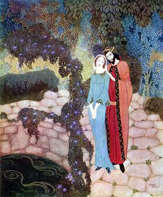Stealers of Light, Edmund Dulac, Illustration to Stealers of Light, by Marie, Queen of Roumania (1916)