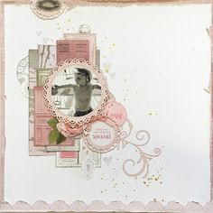 So excited about this months kit! I'm normally somewhat scared when it comes to super girly papers that are predominantly pink and floral, b. Scrapbooking Layouts, Scrapbook Pages, Baby Girl Scrapbook, General Crafts, Rose Cottage, Flourish, Projects To Try, Card Making, Things To Come
