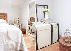 Alter Koffer Als Nachttisch Im Shabby Chic Schlafzimmer