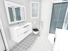 Badet – Småbruket | Nr14 Interiørhjelp Bath Mat, Vanity, Bathroom, Home Decor, Dressing Tables, Washroom, Powder Room, Decoration Home, Room Decor
