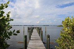 Dock on the Banana River at a Tortoise Island estate in Satellite Beach, #Florida - #Brevard County, November 2012.
