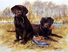 James Killen That's My Puppy-Chocolate Lab