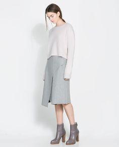 Image 1 of SHORT ANGORA SWEATER from Zara